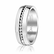 Scott Kay Braid 7mm Cobalt Ring with Rope Inlay