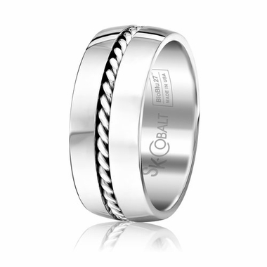Scott Kay Braid 9mm Cobalt Ring with Rope Inlay