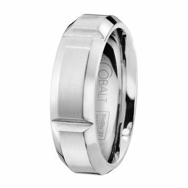 Scott Kay Century 7mm Slotted Cobalt Wedding Band