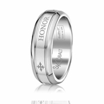 Scott Kay Code 7mm Round Cobalt Ring with HONOR engraving