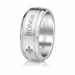 Scott Kay Code 9mm Round Cobalt Band with HONOR engraving