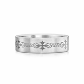 Scott Kay Native 7mm Cobalt Ring with Laser Engraved Crosses