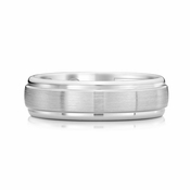 Scott Kay Prime 7mm Dual Finish Cobalt Ring