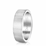 Scott Kay Prime 7mm Flat Cobalt Wedding Band in Satin