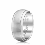 Scott Kay Prime 9mm Dual Finish Cobalt Wedding Band