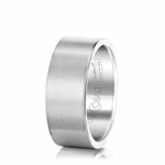 Scott Kay Prime 9mm Flat Cobalt Wedding Band in Satin