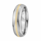 Scott Kay Unity 6mm Dome Cobalt Ring with 14K Yellow Gold