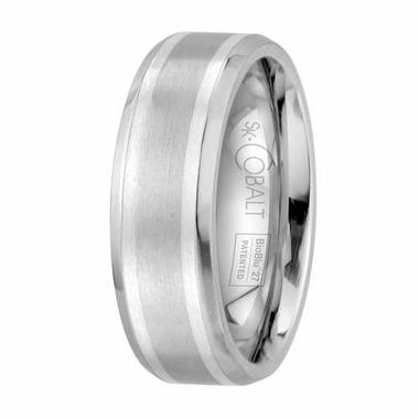 Scott Kay Unity 7mm Cobalt Band with Dual Silver Inlay