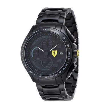 Scuderia Ferrari Black IP Stainless Steel Watch