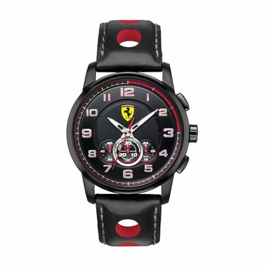 Scuderia Ferrari Heritage Black and Red Chronograph Watch