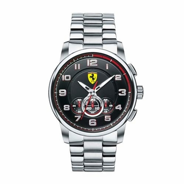 Scuderia Ferrari Heritage Stainless Steel Watch with Red Accents