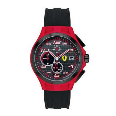 Scuderia Ferrari Lap Time Black and Red Chronograph Watch