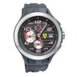 Scuderia Ferrari Lap Time Gray Watch with Carbon Fiber Dial