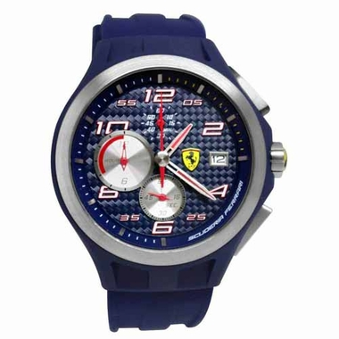 Scuderia Ferrari Lap Time Navy Blue Chronograph  Watch with Carbon Fiber Dial