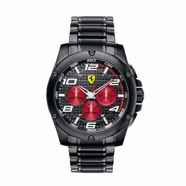 Scuderia Ferrari Paddock Black and Red Chronorgraph Bracelet Watch