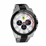Scuderia Ferrari Paddock Stainless Steel Watch with Black IP