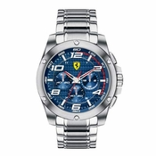 Scuderia Ferrari Paddock Stainless Steel Watch with Blue Dial