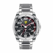 Scuderia Ferrari Paddock Stainless Steel Watch with Carbon Fiber Dial