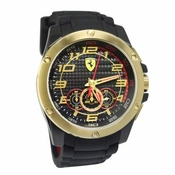 Scuderia Ferrari Paddock Stainless Steel Watch with Gold IP