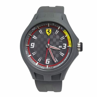Scuderia Ferrari Pit Crew Gray Watch with Red Accents