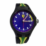 Scuderia Ferrari Pit Crew Watch with Brazil Multicolored Strap