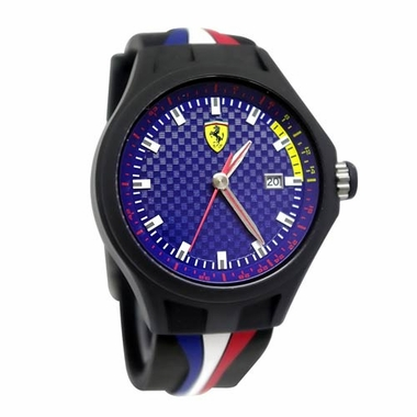 Scuderia Ferrari Pit Crew Watch with Multicolored Strap