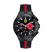 Scuderia Ferrari Race Day Black and Red Chronograph Watch