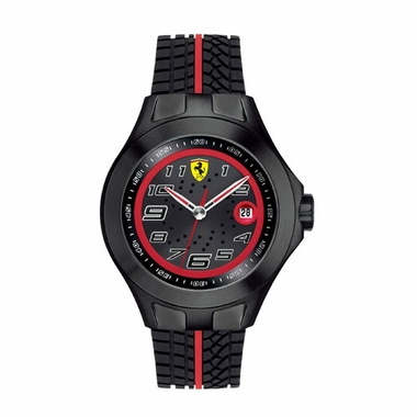 Scuderia Ferrari Race Day Black and Red Watch with Red Stripe