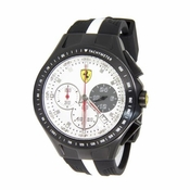 Scuderia Ferrari Race Day Black and White Watch with Stripe