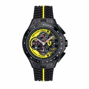 Scuderia Ferrari Race Day Black and Yellow Chronograph Watch