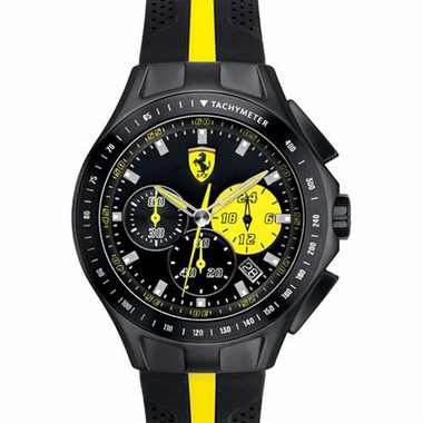 Scuderia Ferrari Race Day Black and Yellow Watch