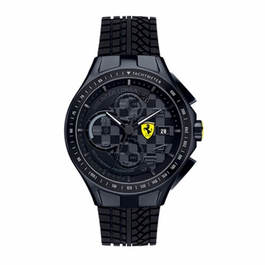 Scuderia Ferrari Race Day Black Chronograph Watch