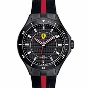 Scuderia Ferrari Race Day Black Chronograph Watch with Red Accents