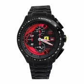 Scuderia Ferrari Race Day Black IP Watch with Red Accents