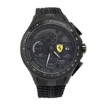 Scuderia Ferrari Race Day Black Rubber Chronograph Watch