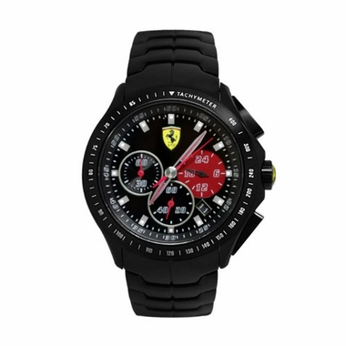 Scuderia Ferrari Race Day Black Stainless Steel Watch