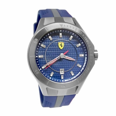 Scuderia Ferrari Race Day Blue Watch with Gray Stripe