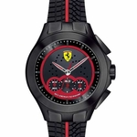 Scuderia Ferrari Race Day Chronograph Watch with Red Stripe