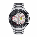 Scuderia Ferrari Race Day Stainless Steel Watch with Red Accents
