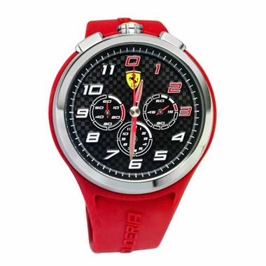 Scuderia Ferrari Ready Set Go Red and Black Watch