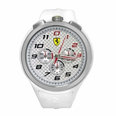 Scuderia Ferrari Ready Set Go White Watch with Red Accents