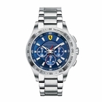 Scuderia Ferrari Stainless Steel Watch with Blue Dial