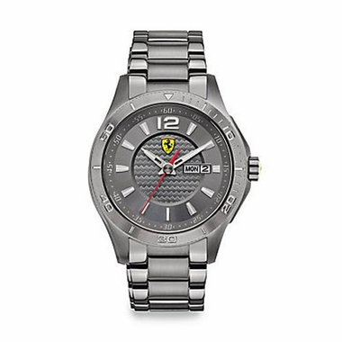 Scuderia Ferrari Stainless Steel Watch with Bracelet Strap