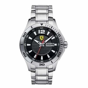 Scuderia Ferrari Stainless Steel Watch with Carbon Fiber Dial