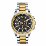 Scuderia Ferrari Two Tone Stainless Steel Watch with Gold IP