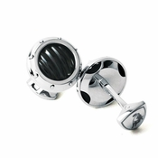 Tonino Lamborghini Black Luce Collection Stainless Steel Cufflinks