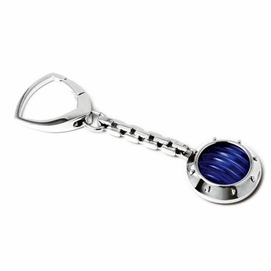 Tonino Lamborghini Blue Luce Collection Stainless Steel Key Ring