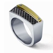 Tonino Lamborghini Energia Collection Stainless Steel Ring