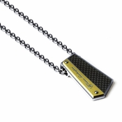 Tonino Lamborghini Energia Pendant with Stainless Steel Rolo Chain
