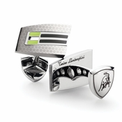 Tonino Lamborghini Green Corsa Collection Stainless Steel Cufflinks